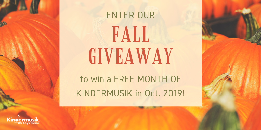 Fall Giveaway: Win a Free Month of Kindermusik in October