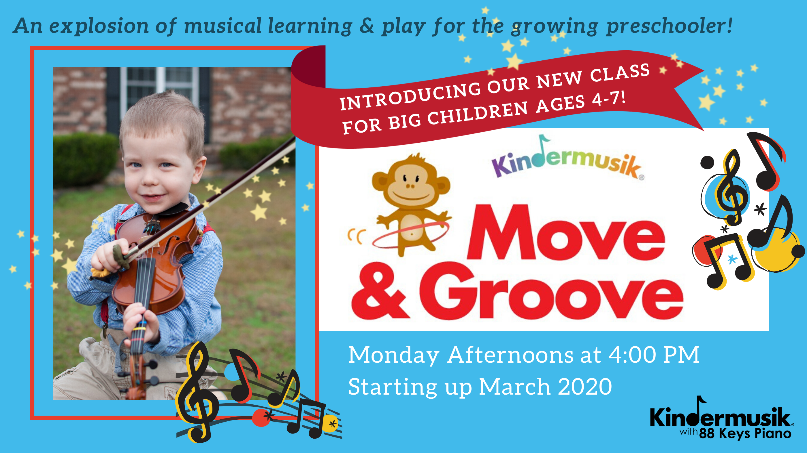 Introducing Our New Class for BIG CHILDREN Ages 4-7: Starting March 2020!