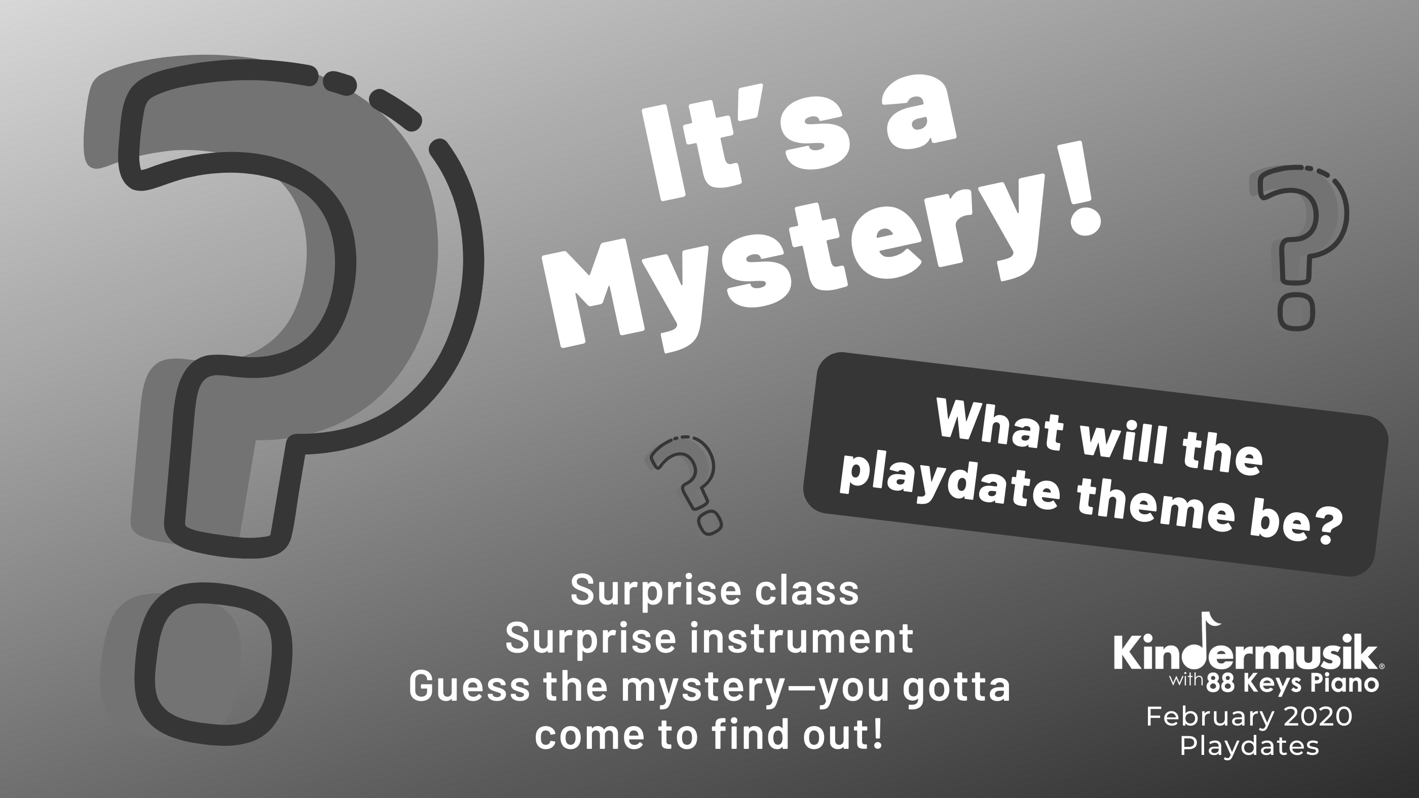 February Playdates: It's a Mystery!