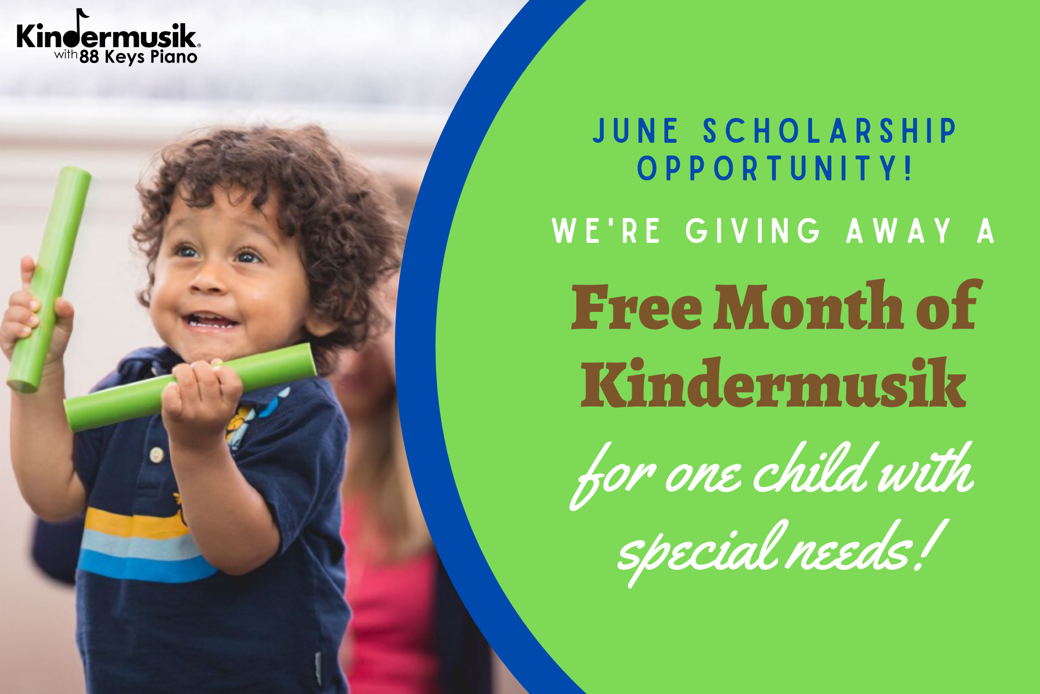 Let's give away some love this spring… Time for our June special needs scholarship!
