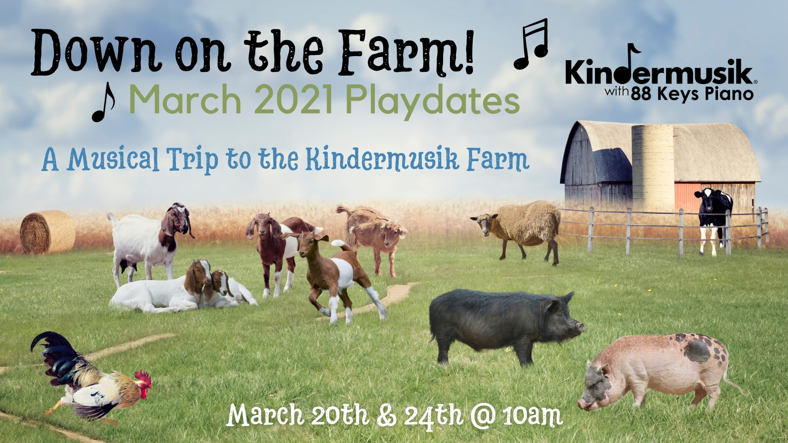March Playdates: Down on the Farm!