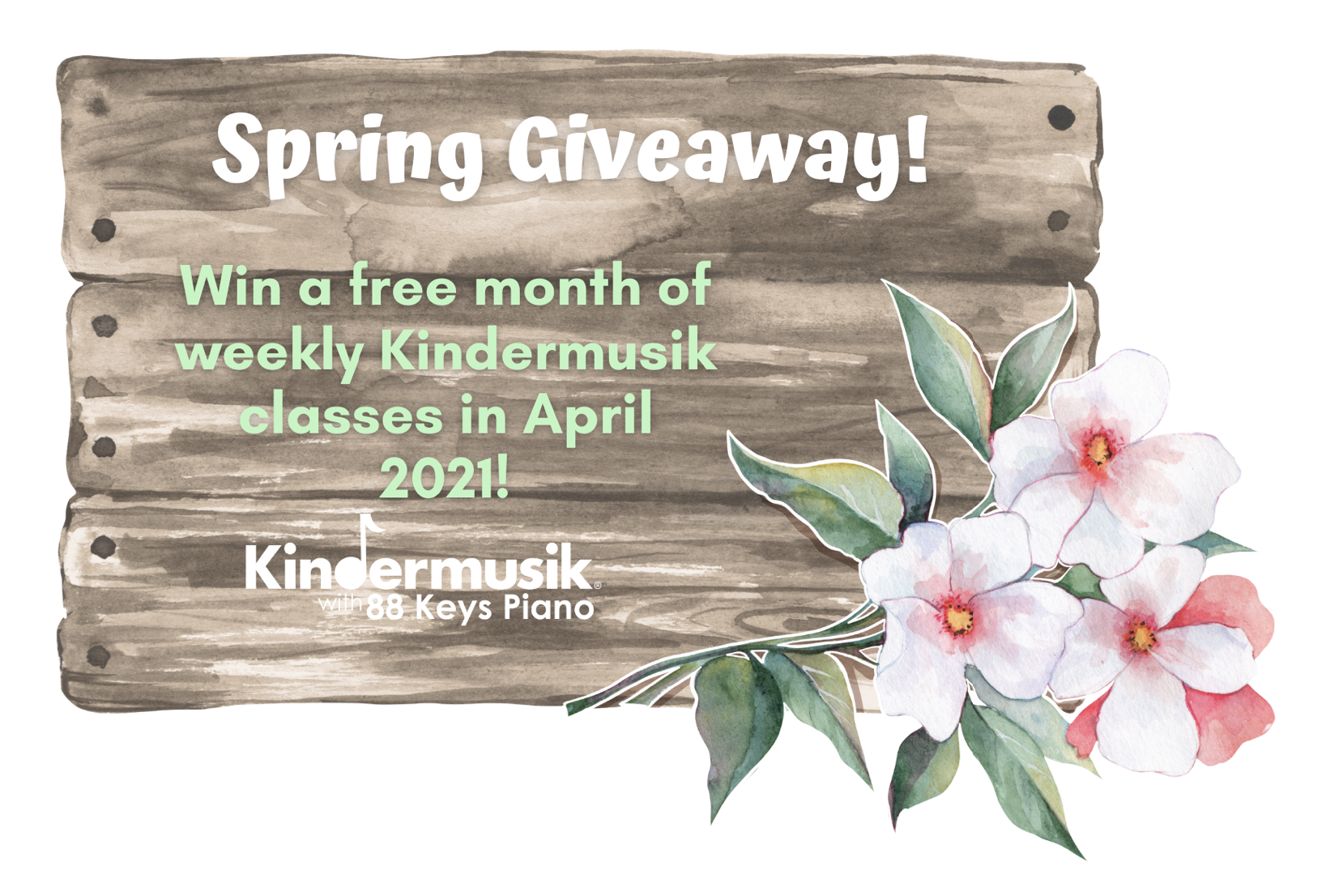 Spring Giveaway: Win a Free Month of Kindermusik in April