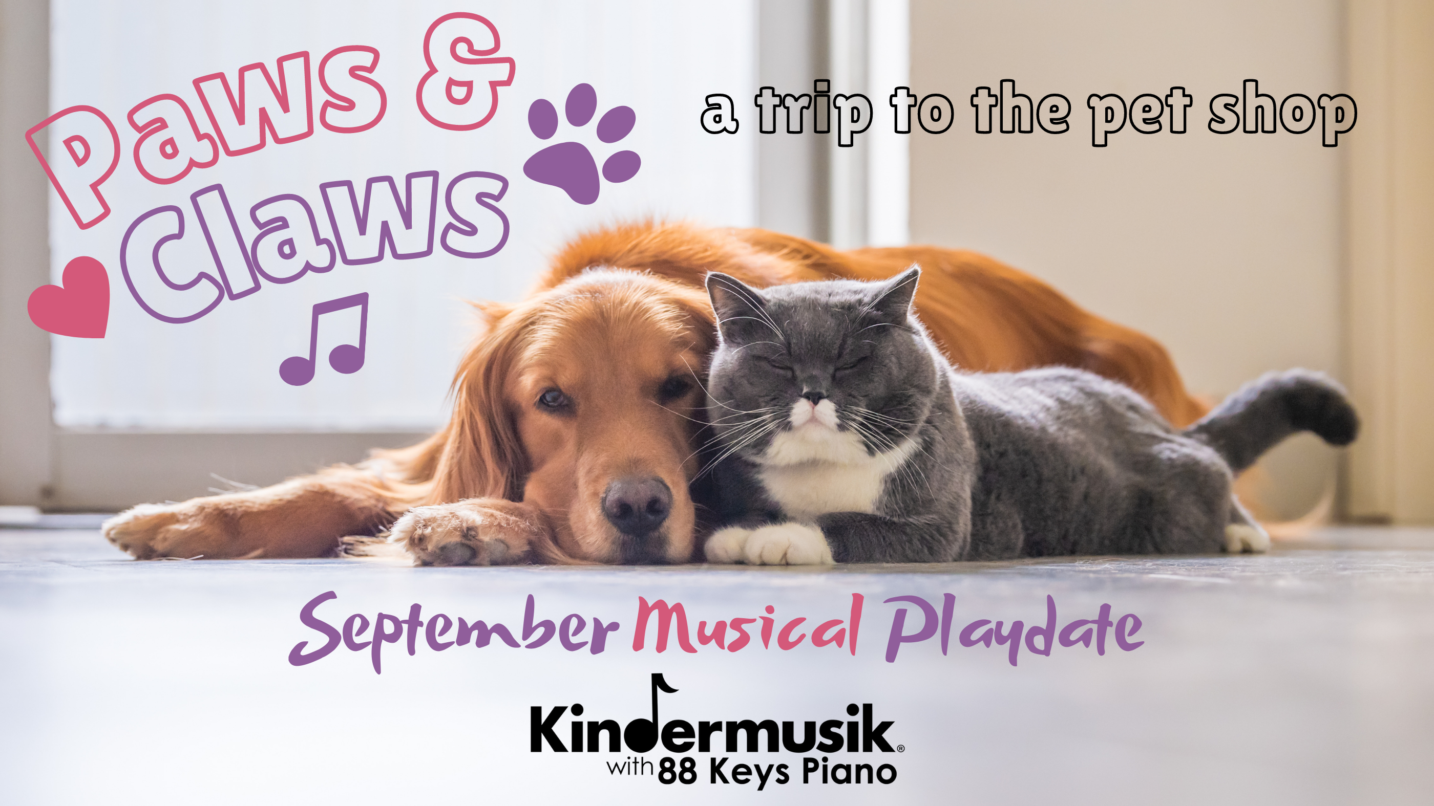 Join Our September Playdate: Paws & Claws!
